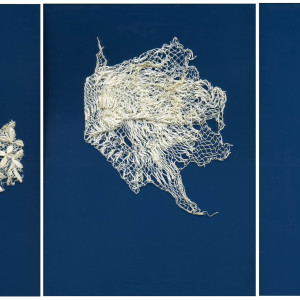 Scans of old family laces and embroidery pieces (2016, 50x70 cm each)